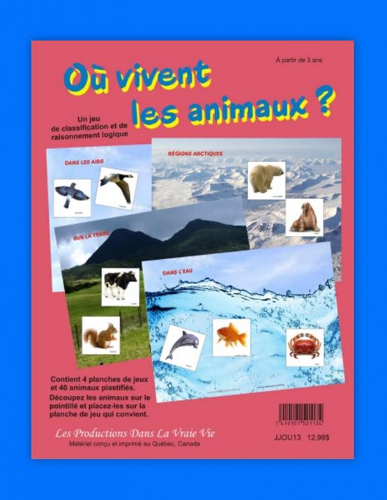 Où vivent les animaux?, jeux éducatifs