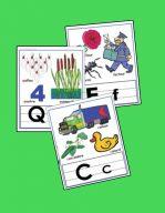 Affichettes Les lettres - Alphabet