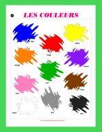 Affiche Les couleurs