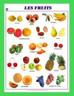 Affiche Les fruits