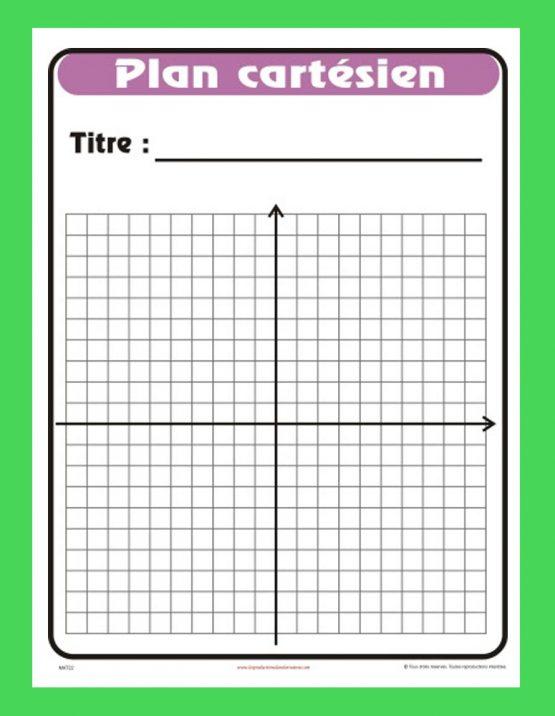 Affiche Plan cartésien (vide)