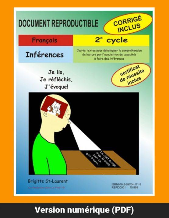 Inférences, 2e cycle par Brigitte St-Laurent, Reproductible, PDF