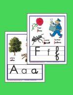Les lettres en script et en cursif