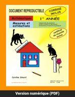 Mesures et estimations, 1re année par Caroline Simard, Reproductible, PDF