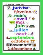Affiche Les mois de l'année