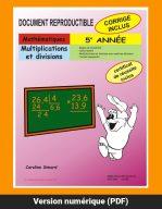 Multiplications et divisions par Caroline Simard, Reproductible, PDF