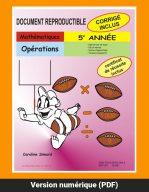 Opérations, 5e année par Caroline Simard, Reproductible, PDF