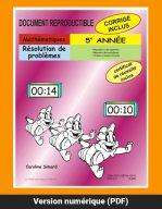 Résolution de problèmes, 5e année par Caroline Simard, Reproductible, PDF