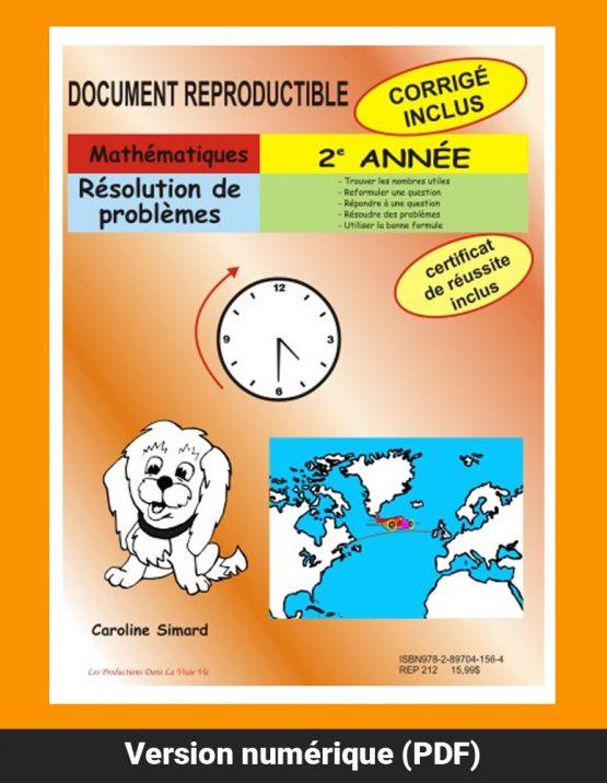 Résolution de problèmes, 2e année par Caroline Simard, Reproductible, PDF