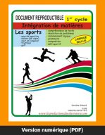 Sports 1er cycle, par Caroline Simard, Reproductible, PDF