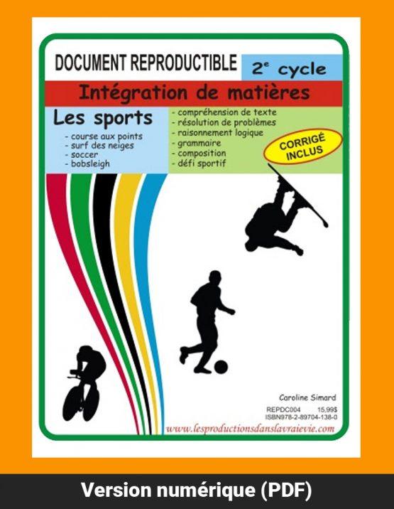 Sports 2e cycle, par Caroline Simard, Reproductible, PDF