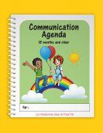 Agenda de communication 18 mois et plus, version anglaise