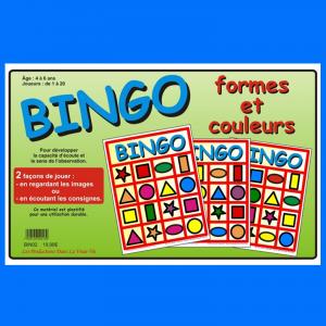BINGO Formes et couleurs, jeux éducatifs