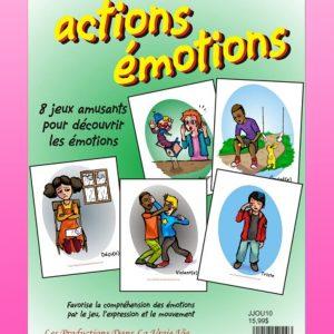 Actions émotions par Lucie Brault-Simard, Livre d'activités, Psychoéducation