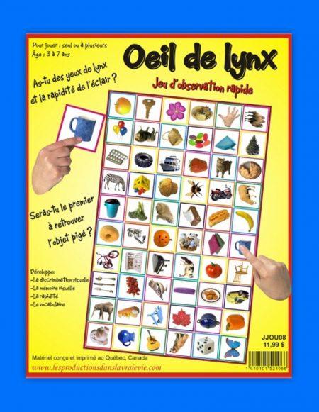 Oeil de lynx, jeux éducatifs