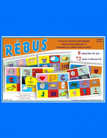 Rébus, jeux éducatifs