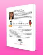 Verso de la couverture de Les sentiments en jeux par Lucie Brault-Simard
