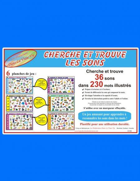 Cherche et trouve les sons, un jeu amusant pour reconnaître les sons dans les mots - Jeux éducatifs