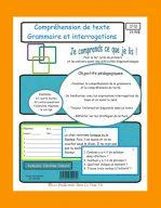 Comprehension de texte Grammaire et interrogations