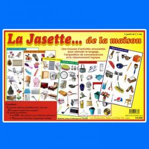 La Jasette... de la maison, une trousse d'activités amusantes pour stimuler le langage, l'acquisition de connaissances et le raisonnement logique.