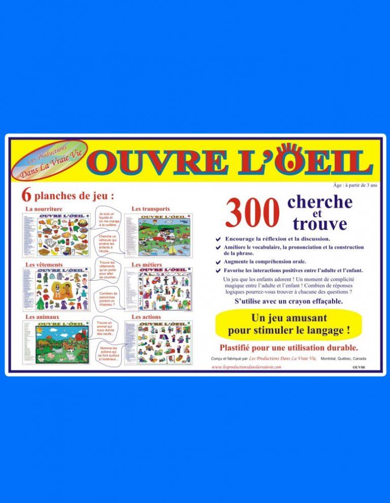 Ouvre l'Oeil : 300 cherche et trouve - Jeux éducatifs