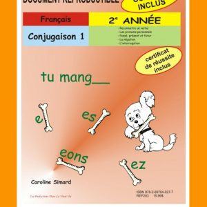 Conjugaison 1, 2e année par Caroline Simard, Reproductible, PDF