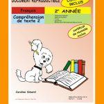 Compréhension de texte 2, 2e année par Caroline Simard, Reproductible, PDF