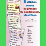 8 affiches verbe présent du conditionnel