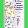 8 affiches verbe présent de l'indicatif