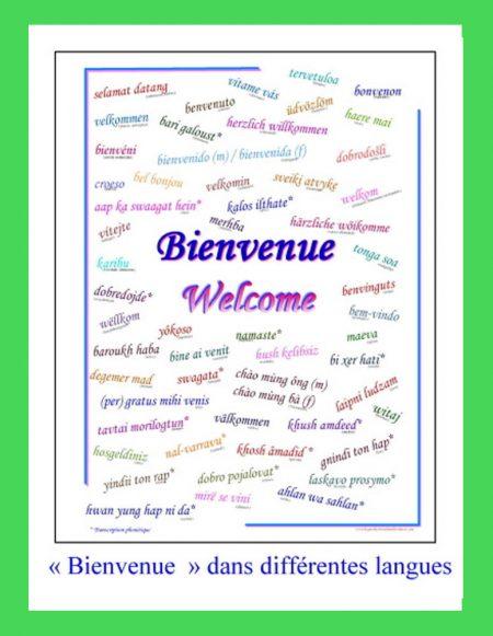 Affiche Bienvenue