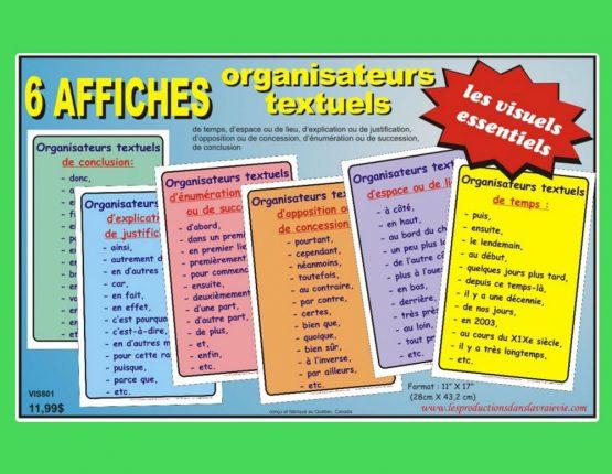 Ensemble 6 affiches Les organisateurs textuels