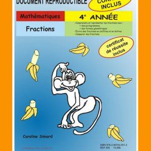 Fractions, 4e année par Caroline Simard, Reproductible, PDF