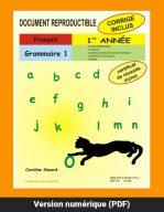 Grammaire 1, 1re année par Caroline Simard, Reproductible, PDF