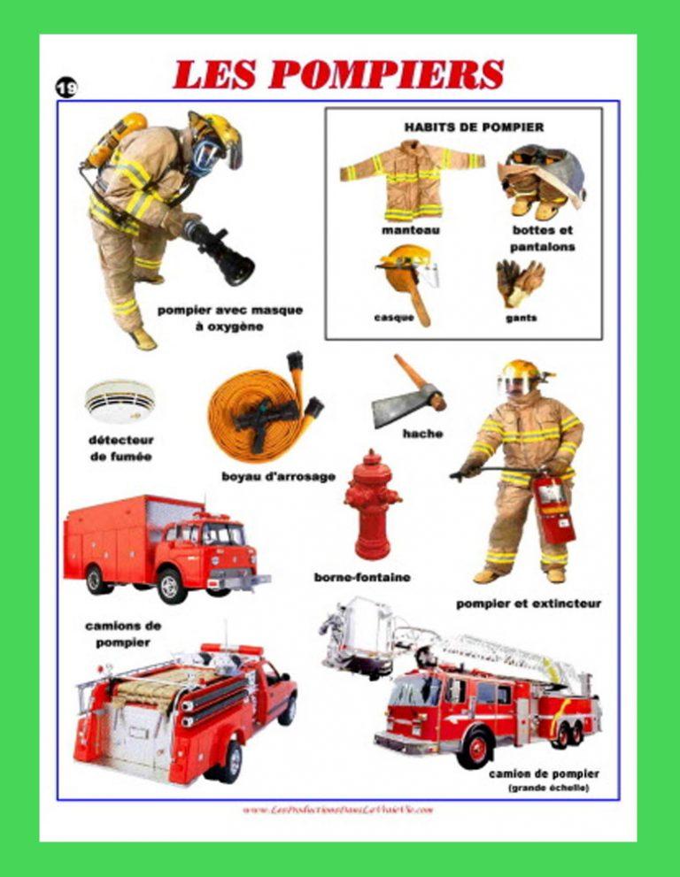 Affiche Les pompiers