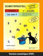Les sons 4, 1re année par Caroline Simard, Reproductible, PDF