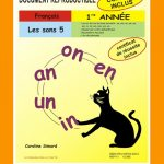 Les sons 5, 1re année par Caroline Simard, Reproductible, PDF