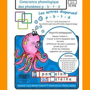 Jeu éducatif de conscience phonologique (Phonèmes p-b-t-d)