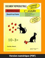 Soustraction 1re année par Caroline Simard, Reproductible, PDF