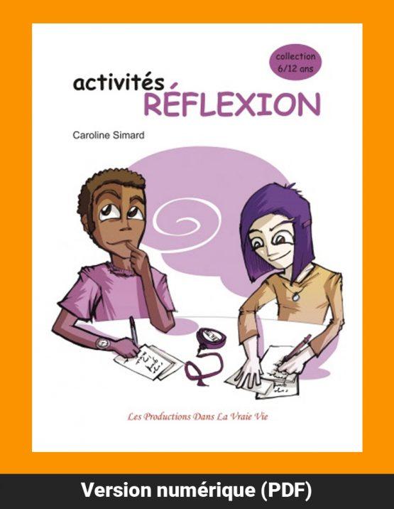 Activités Réflexion par Caroline Simard, Primaire, Livres d'activités, PDF