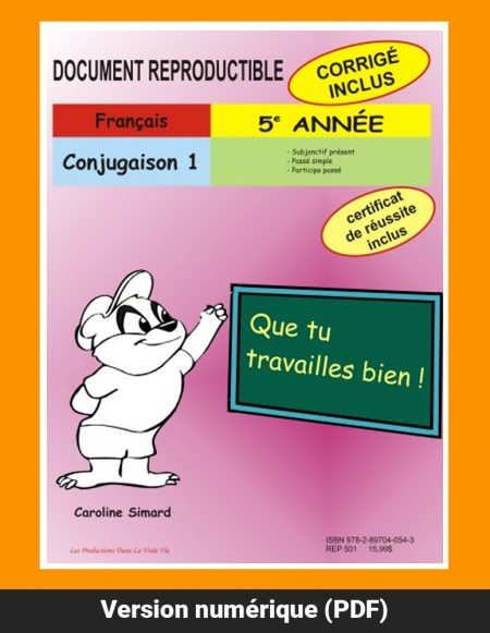 Conjugaison 1 par Caroline Simard, Reproductible, PDF