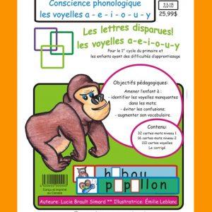 Jeu éducatif de conscience phonologique (Voyelles a-e-i-o-u-y)