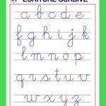 Affiche Écriture cursive
