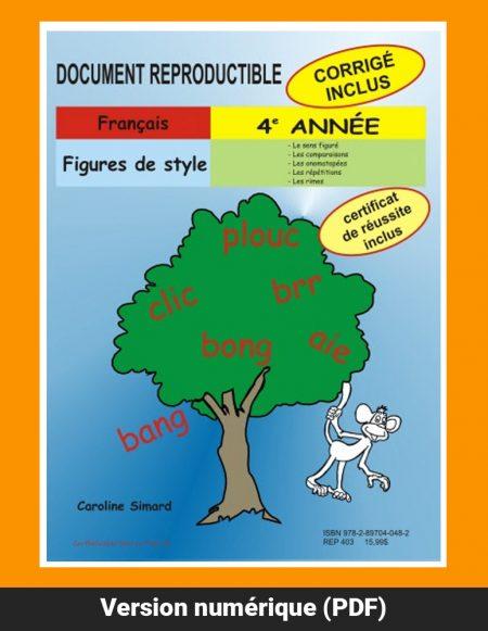 Figures de style, 4e année par Caroline Simard, Reproductible, PDF