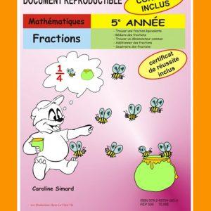 Fractions, 5e année par Caroline Simard, Reproductible, PDF