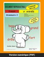 Grammaire 2, 3e année par Caroline Simard, Reproductible, PDF