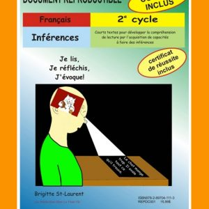 Inférences, 2e cycle par Brigitte St-Laurent, Reproductible, PDF