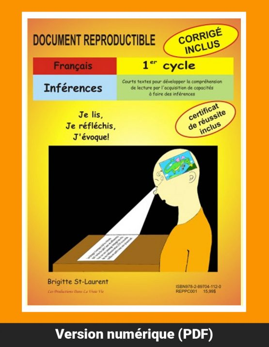 Inférences, 1er cycle par Brigitte St-Laurent, Reproductible, PDF