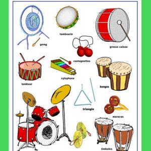 Affiche Instruments à percussions