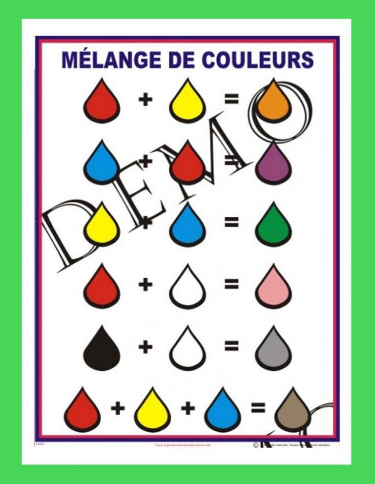 Affiche Mélange de couleurs