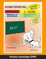 Mesures et estimations, 2e année par Caroline Simard, Reproductible, PDF